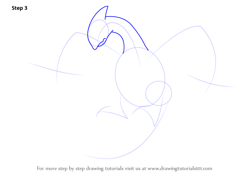 step by step how to draw lugia from pokemon