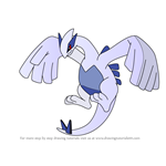 How to Draw Lugia from Pokemon