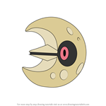 How to Draw Lunatone from Pokemon