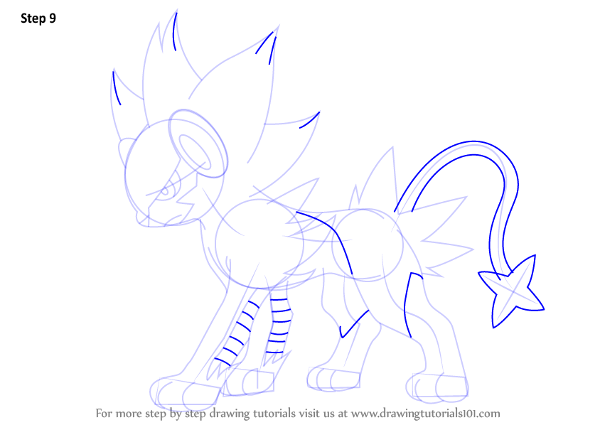 Step by Step How to Draw Luxray