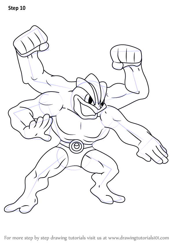 Learn How to Draw Machamp from