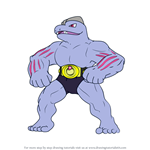 How to Draw Machoke from Pokemon