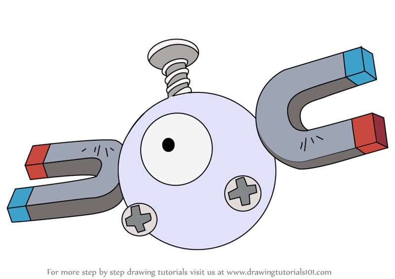 Learn how to draw magnemite from pokemon pokemon step by step drawing tutorials