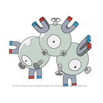 How to Draw Magneton from Pokemon
