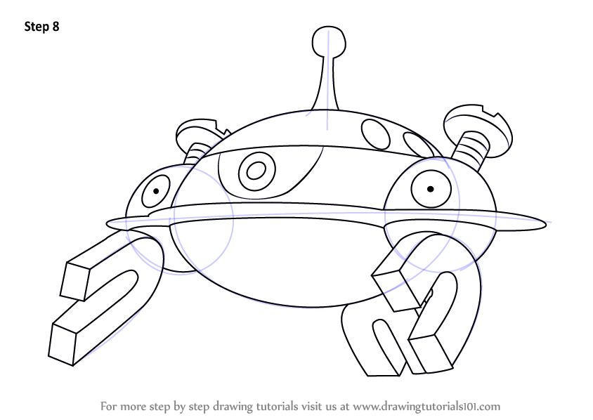 Learn How To Draw Magnezone From Pokemon Pokemon Step By