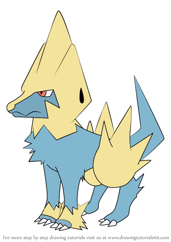 Learn How to Draw Manectric from Pokemon Pokemon Step by