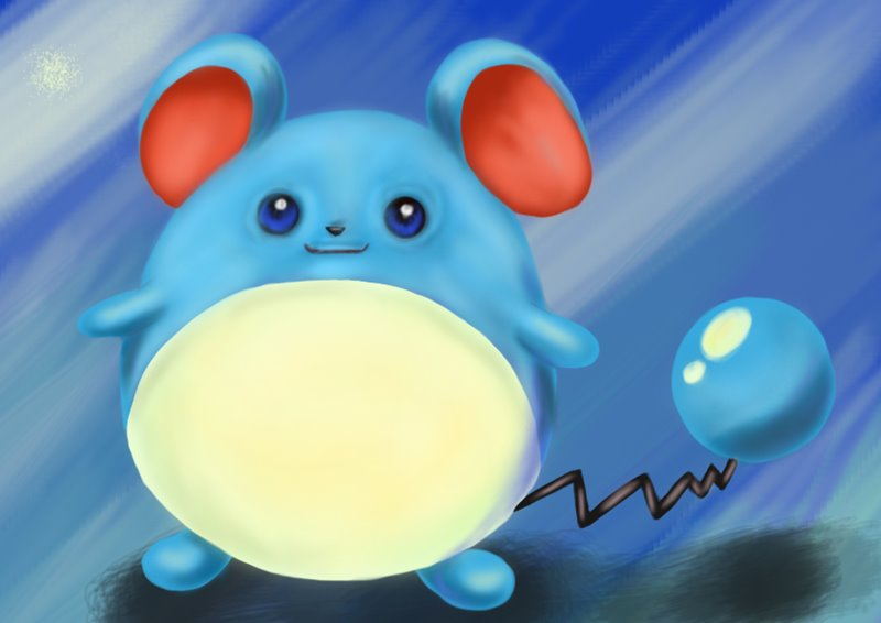 learn how to draw marill from pokemon  pokemon  step by step   drawing tutorials