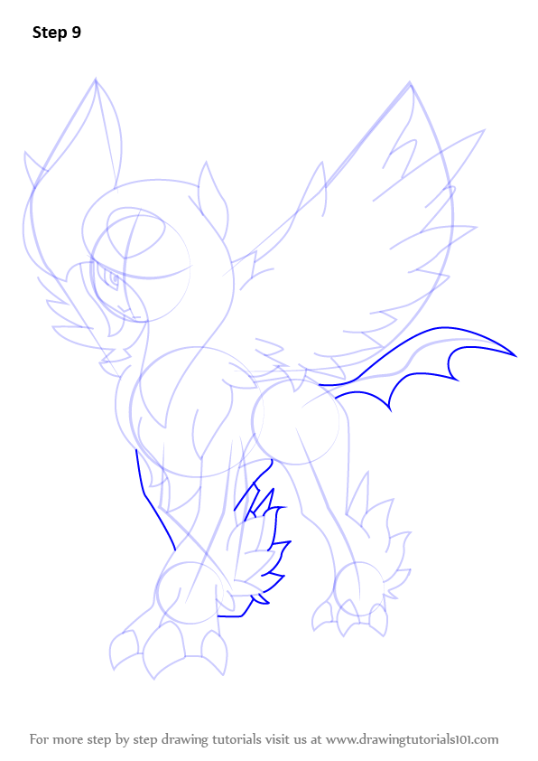 Learn How To Draw Mega Absol From Pokemon Pokemon Step