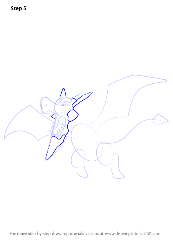 how to draw mega lucario step by step