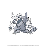 How to Draw Mega Aggron from Pokemon