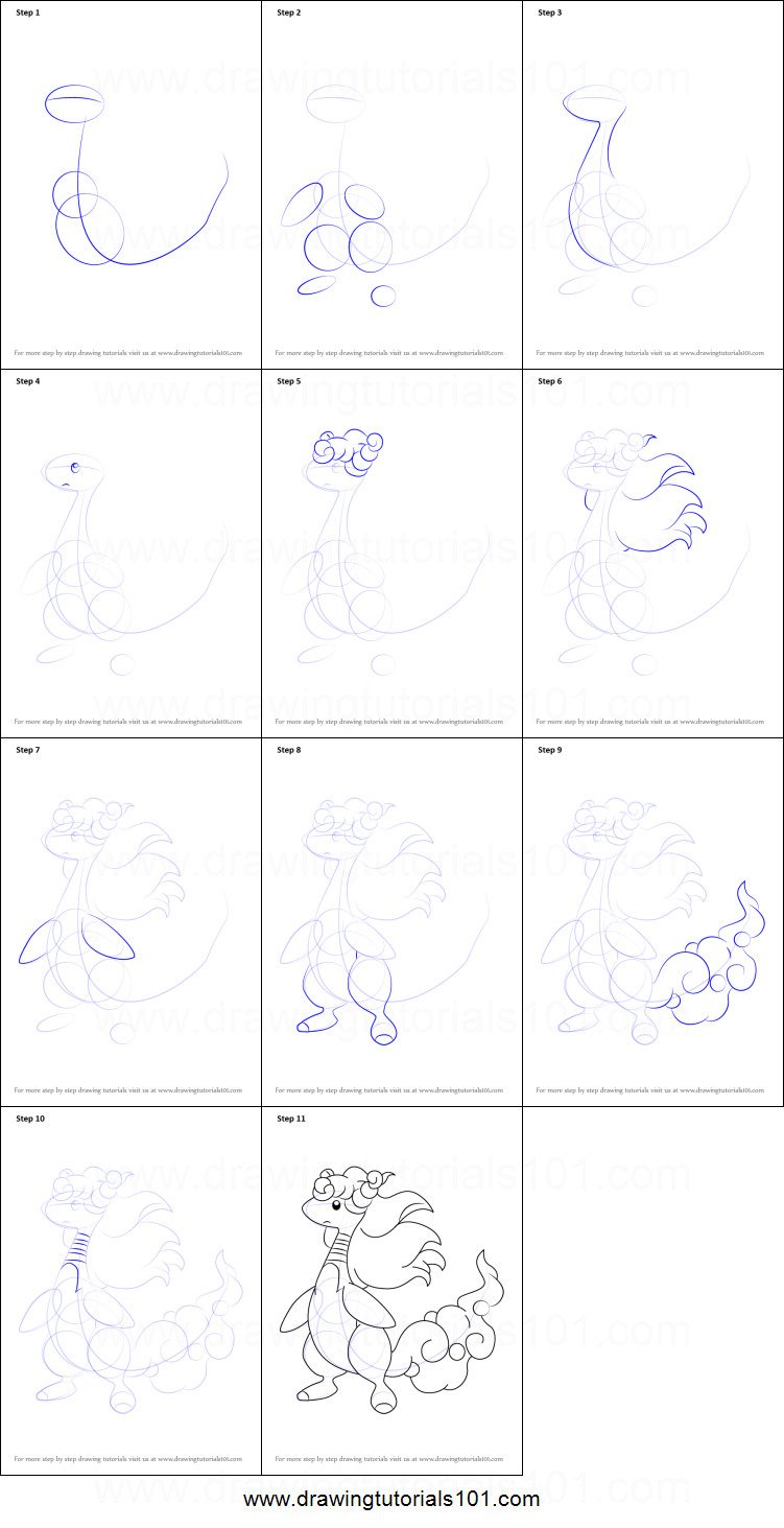 How to Draw Mega Ampharos from Pokemon printable step by ...