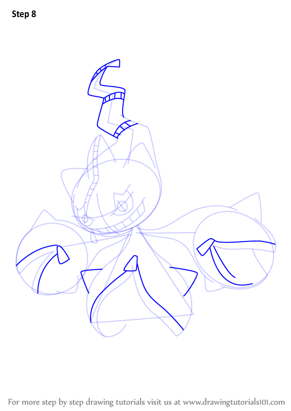Learn How To Draw Mega Banette From Pokemon Pokemon Step
