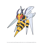 How to Draw Mega Beedrill from Pokemon