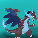 How to Draw Mega Charizard X from Pokemon