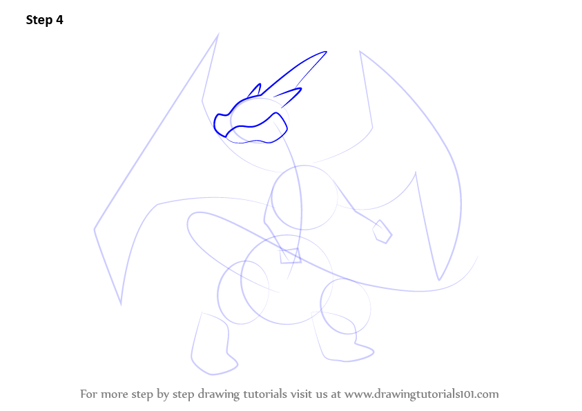 Step By Step How To Draw Mega Charizard Y From Pokemon