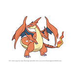 How to Draw Mega Charizard Y from Pokemon