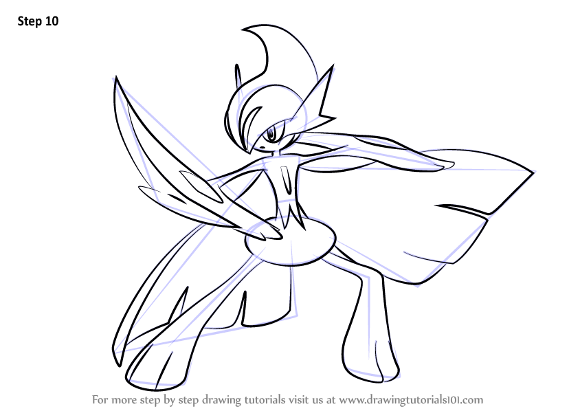 Gallade Pokemon Coloring Pages
