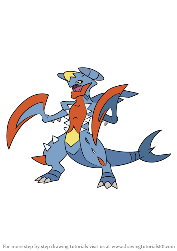 Learn How to Draw Mega Garchomp from Pokemon (Pokemon ...