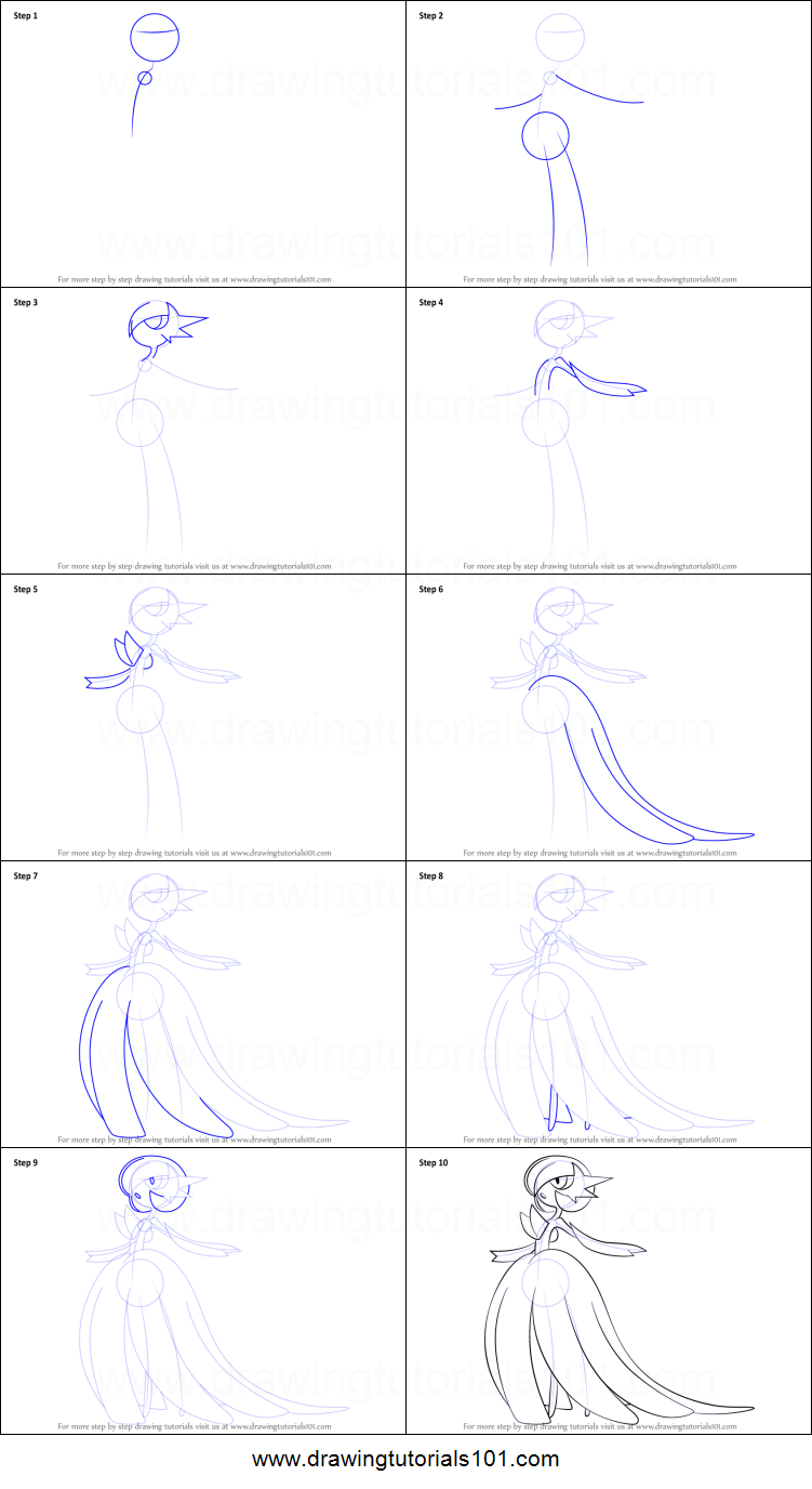 How to Draw Mega Gardevoir from