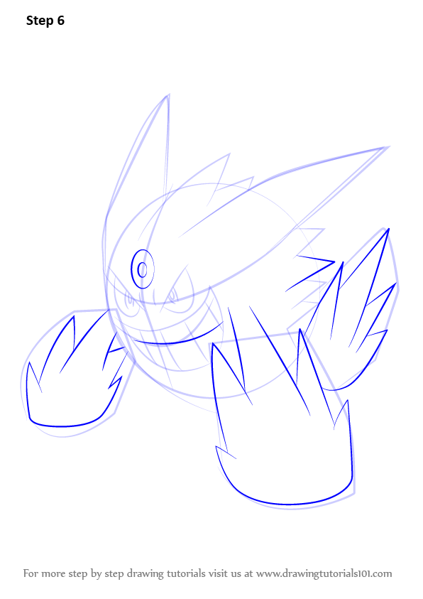 How To Draw Mega Gengar Step By