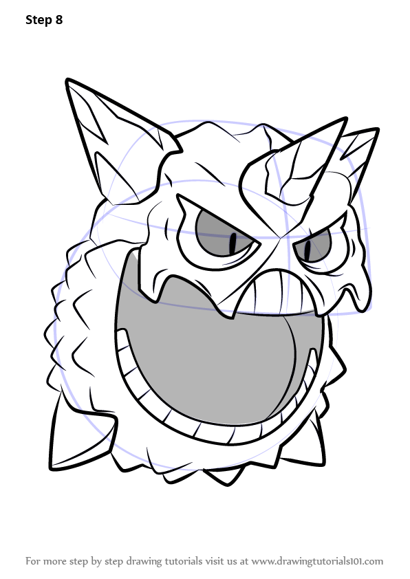 Learn How to Draw Mega Glalie from Pokemon (Pokemon) Step ...