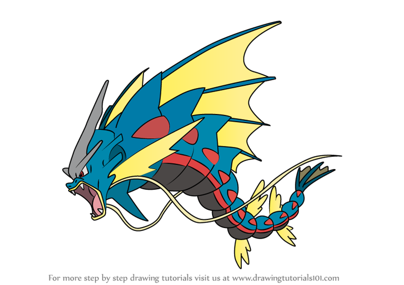 learn how to draw mega gyarados from