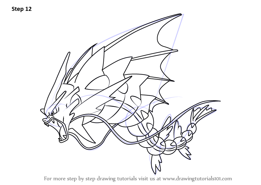 Learn How to Draw Mega Gyarados