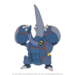 How to Draw Mega Heracross from Pokemon