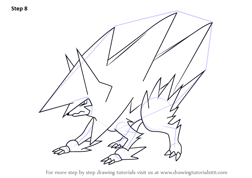Learn How To Draw Mega Manectric From Pokemon Pokemon