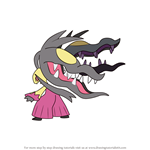 How to Draw Mega Mawile from Pokemon