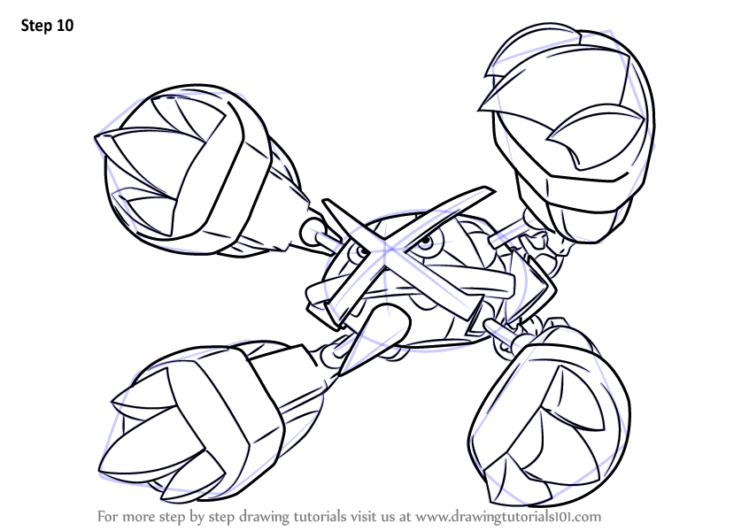 Metagross Pokemon Coloring Pages Images Sketch Coloring Page