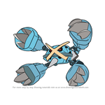 How to Draw Mega Metagross from Pokemon