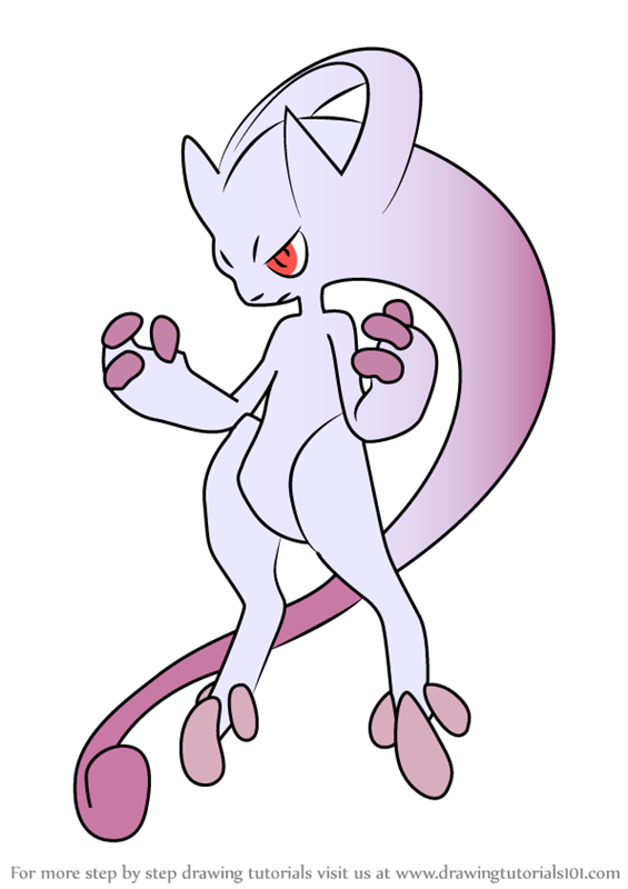 Printable Mewtwo Coloring Pages