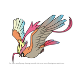 How to Draw Mega Pidgeot from Pokemon