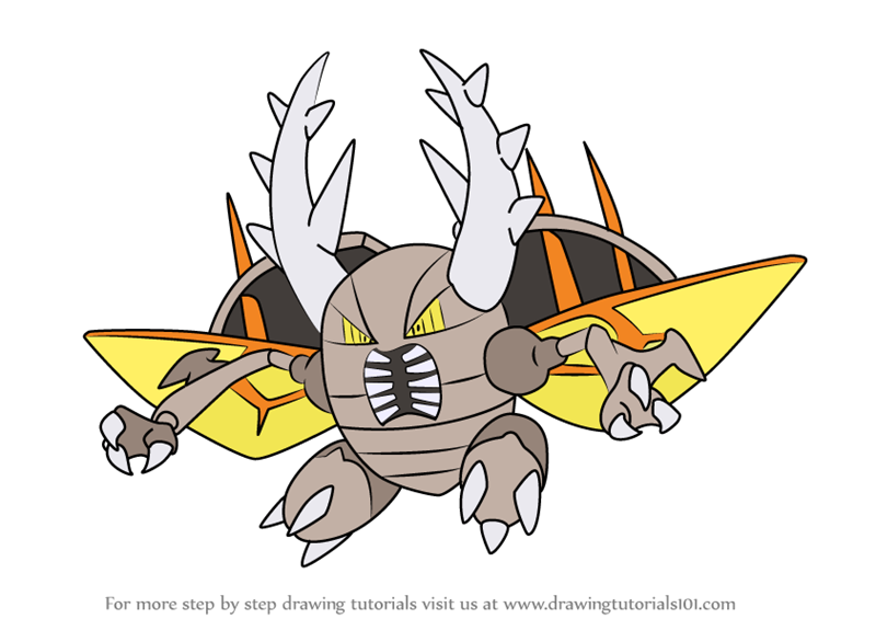 learn how to draw mega pinsir from step
