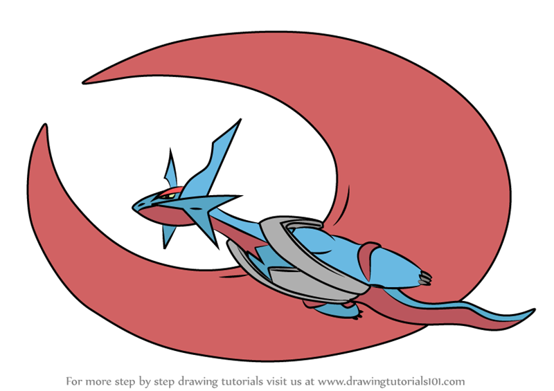 Pokemon Mega Evolution Kleurplaten Learn How To Draw Mega Salamence From Pokemon Pokemon