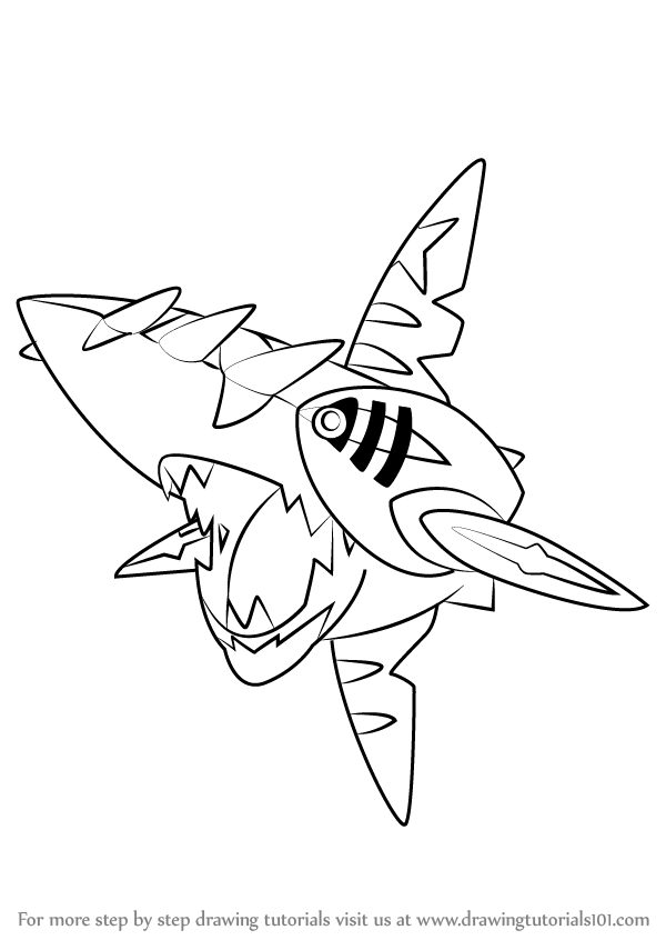 Pokemon Sharpedo Coloring Pages