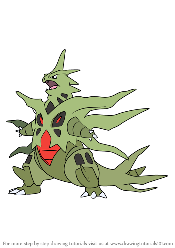 Learn How to Draw Mega Tyranitar