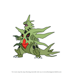 How to Draw Mega Tyranitar from Pokemon