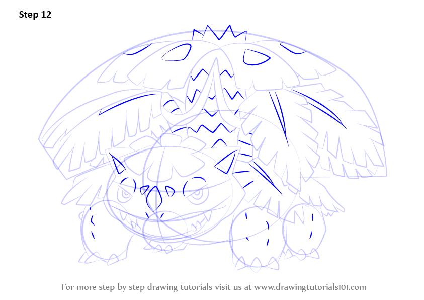 Learn How To Draw Mega Venusaur From Pokemon Pokemon