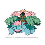 How to Draw Mega Venusaur from Pokemon