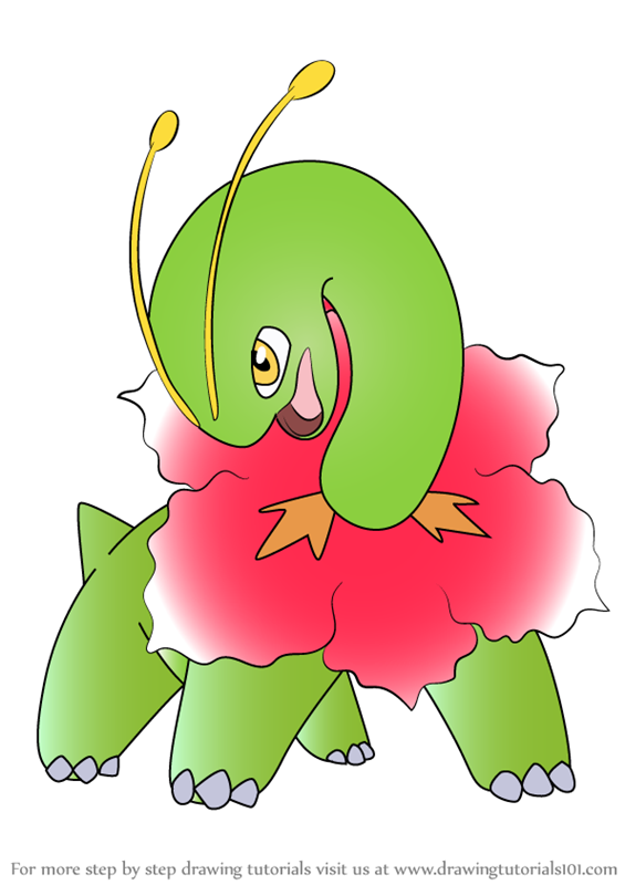 Learn How to Draw Meganium from