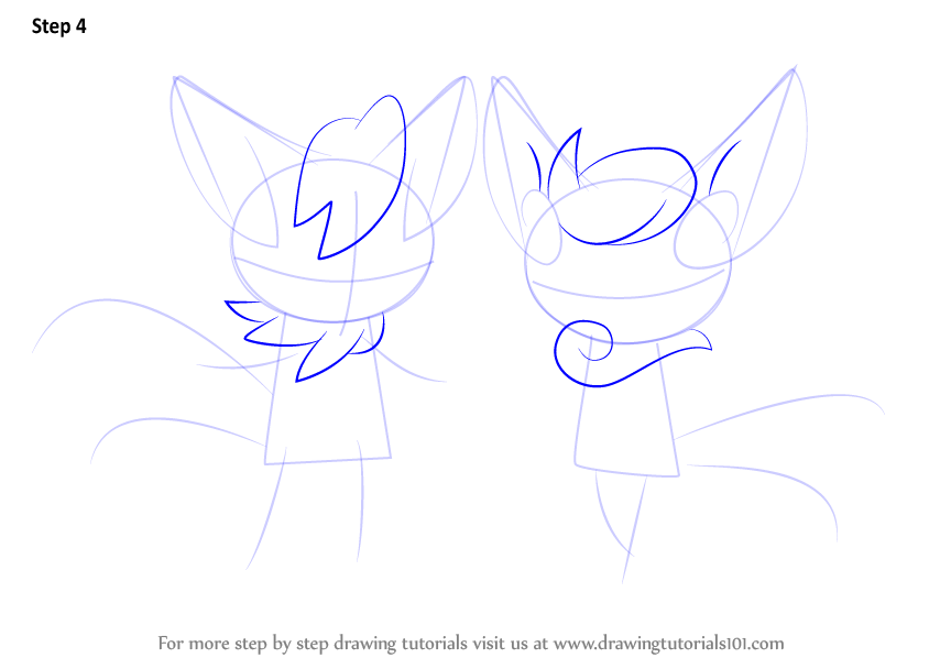 Learn How To Draw Meowstic From Pokemon (Pokemon) Step By