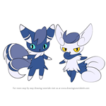 How to Draw Meowstic from Pokemon