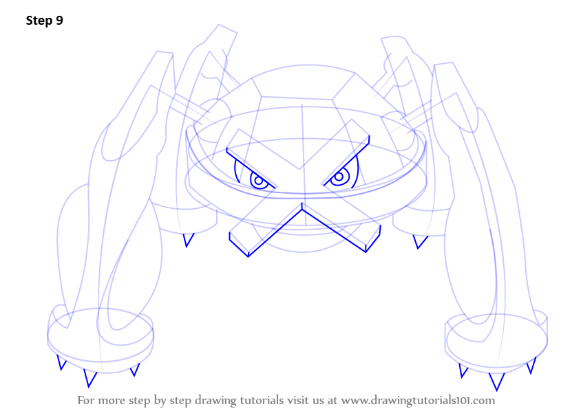 Step By Step How To Draw Metagross From Pokemon