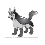How to Draw Mightyena from Pokemon