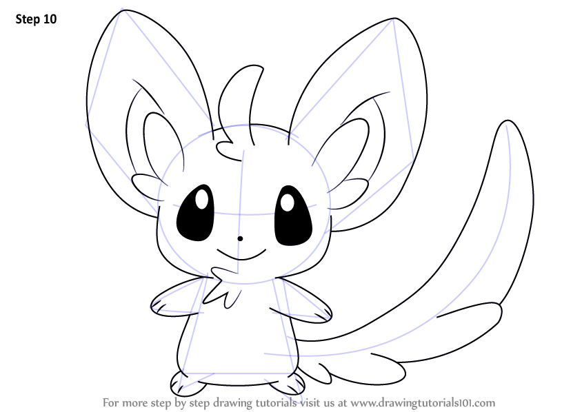 learn how to draw minccino from pokemon pokemon step by step