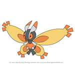 How to Draw Mothim from Pokemon