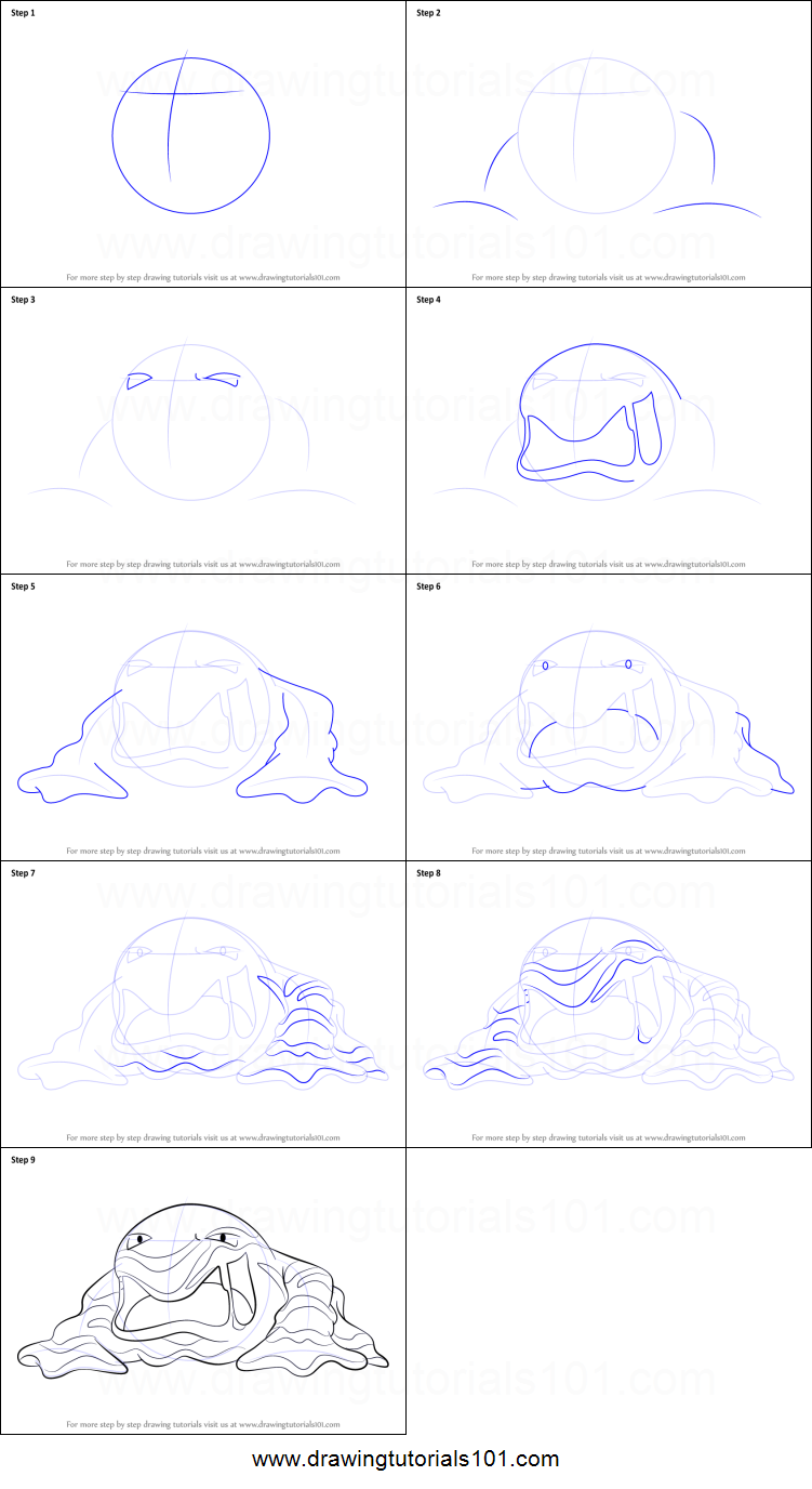 pokemon muk coloring pages - photo#34