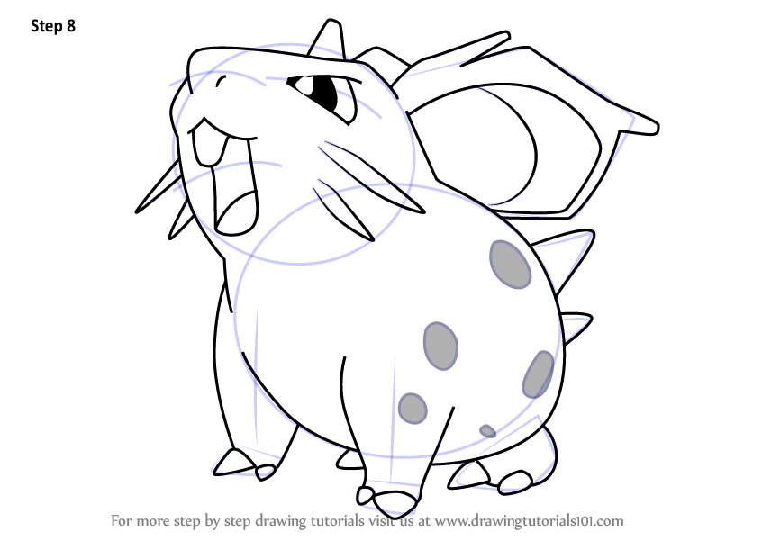 Step By Step How To Draw Nidoran Female From Pokemon
